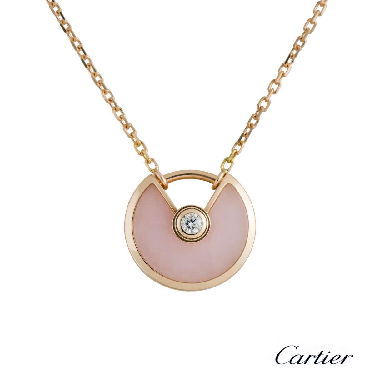 Cartier Amulette de Cartier Rose Gold Diamond & Opal Necklace B7224519 - Rich Diamonds Of Bond ...
